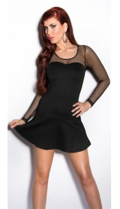 Sexy minidress with netapplication Black