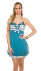 Sexy mini dress in Babydoll look Sapphire