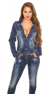 Sexy longsleeve denim overall Jeansblue