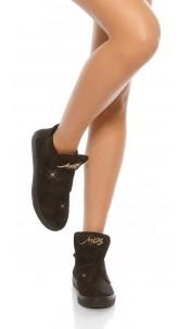 Trendy shiny sneakers Black