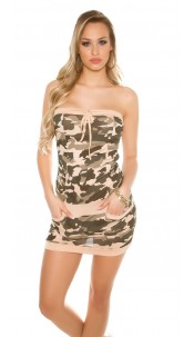 Sexy KouCla mini dress in army look Apricot