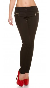Elegant KouCla Business Pants Black