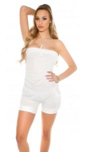 Sexy Bandeau-Jumpsuit White