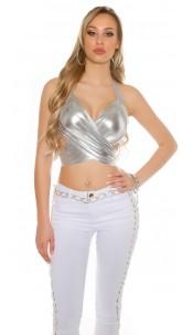 Sexy wrap top Silver