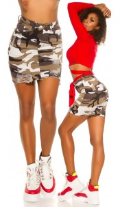 Trendy Camouflage Skirt Used Look Army