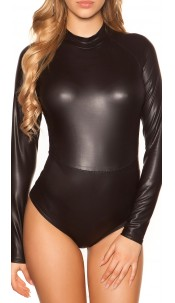 Sexy KouCla Wetlook Body Longsleeve Black