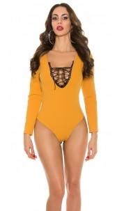Trendy body with sexy insight Mustard