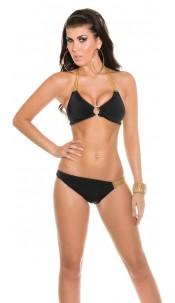 Sexy Neckholder Bikini with chainstraps Black