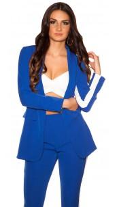 Sexy Blazer with contrasting stripes Blue