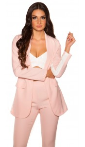 Sexy Blazer with contrasting stripes Pink