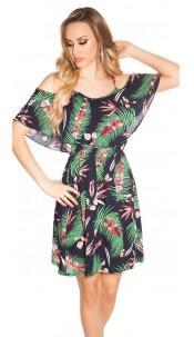 Sexy summer minidress Coachella-Style Navy