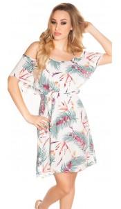 Sexy summer minidress Coachella-Style White