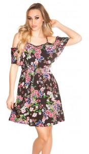 Sexy summer minidress Coachella-Style Black