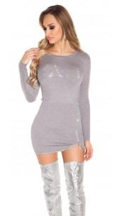 Sexy knit dress w. glitter