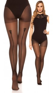 Sexy tights with seam pattern Black