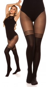Sexy tights in overknee look Black