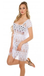Sexy beach tunic White