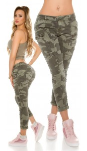 Trendy Camouflage Skinny Jeans Army