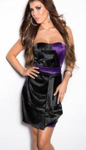 Sexy Bandeau Cocktail-Dress Blackpurple