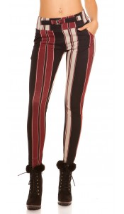 Trendy Treggings in business look Blackred