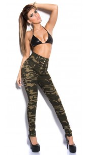 Sexy highwaist skinny in military-look Army