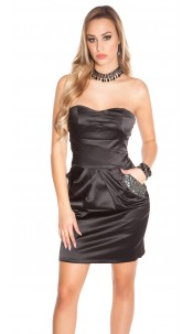 Sexy Bandeau- Party-Dress with Bags Black