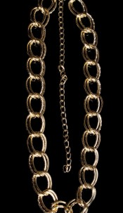 Sexy XL double ring chain belt Gold