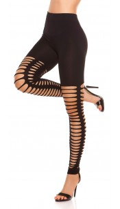 Sexy Leggings with sexy rips Black