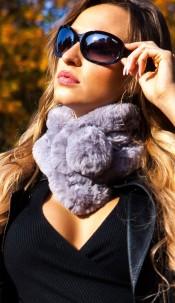 Trendy fluffy scarf Grey