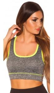 Trendy Workout Crop Top Neonyellow
