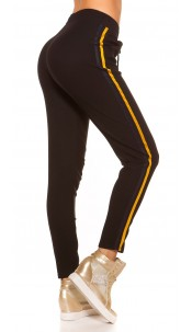 Trendy joggers with contrast stripes Blueyellow