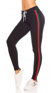 Trendy joggers with contrast stripes, navy Redgreen