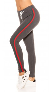 Trendy joggers with contrast stripes, grey Redgreen