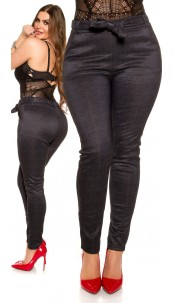 CurvyGirlsSize! Sexy businesslook pants with belt Anthracite