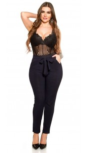 CurvyGirlsSize! Sexy businesslook pants with loop Navy
