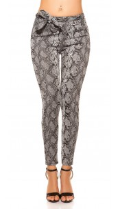 Trendy Loose Fit pants with loop Snake