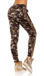 Trendy Camouflage Thermo Treggings Grey