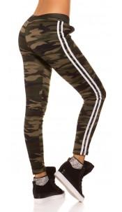 Trendy Camouflage Thermo Treggings Khaki