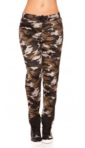 Trendy thermal joggers in camouflage Grey