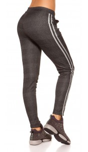 Trendy Thermo Business Look Treggings Blackwhite