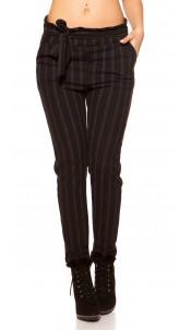 Trendy Business Look Treggings striped Blackwhite