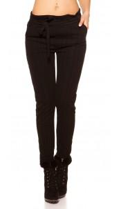 Trendy Business Look Treggings striped Fuchsia