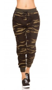 Trendy Camouflage Joggers Khaki