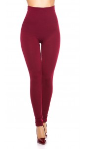 Sexy Thermo Shape High Waist Leggings Bordeaux