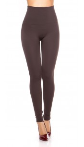 Sexy Thermo Shape High Waist Leggings Taupe