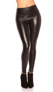 Sexy Wetlook Thermo Leggings Black