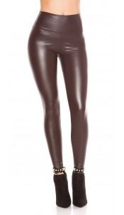 Sexy Wetlook Thermo Leggings Gold