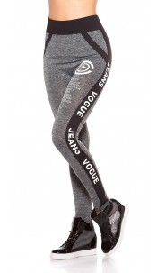 Sexy Workout Leggings with Print Anthracite
