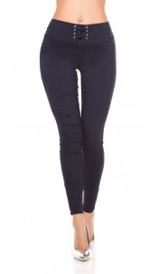 Sexy Leggings with Lacing Navy