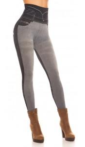Sexy Jeanslook Shape Leggings Grey
